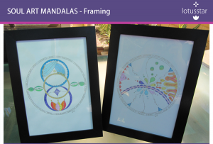 Soul Art Mandalas A4 colour framed
