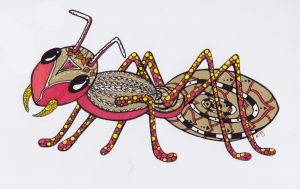 Ant Base Chakra Guides - Zentangle ZIA spirit drawings by Elizabeth L James