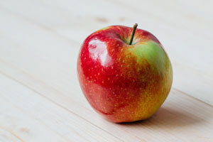 Organic fruit and vegetables - apple