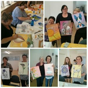 Zentangle ZIA Create A Canvas Workshop - participants art