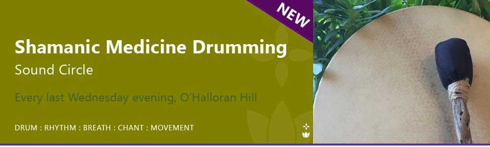 Shamanic Medicine Drumming Sound Circle Adelaide